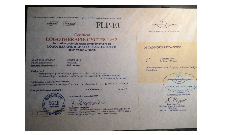 DIPLOME LOGOTHERAPEUTE
